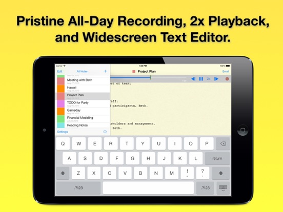 Audio Notebook: Sound Recorder Screenshots