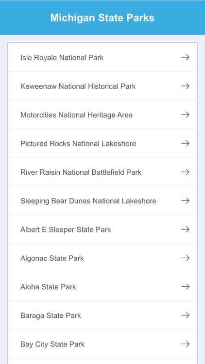 Michigan State Parks & National Parks
