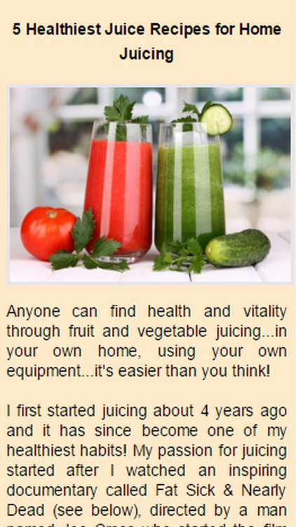 Healthy Juice Recipes.