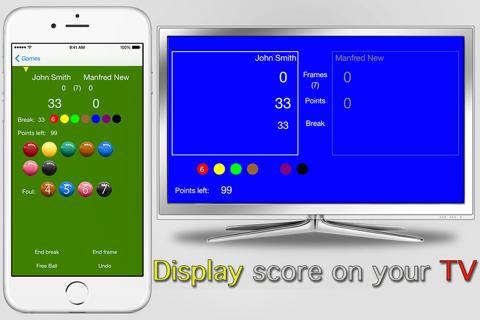 Snooker Scoreboard Pro - náhled