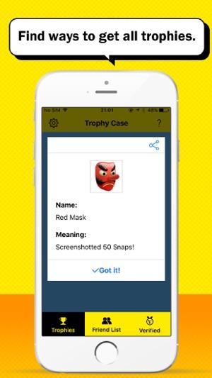 unlock all snapchat trophies cheat
