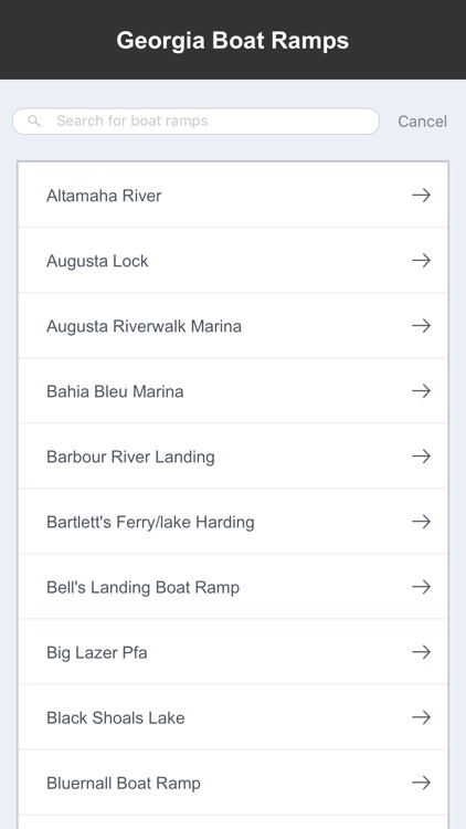 Georgia Boat Ramps & Fishing Ramps screenshot-1