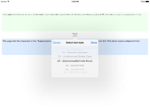 Screenshot #4 pour Ʋиιтeϰт - Weird Text Generator