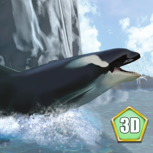 Orca Killer Whale Survival Simulator 3D - Play as orca, big ocean predator! icon