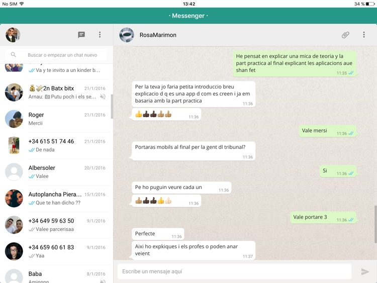 Messenger for WhatsApp - iPad Version - Free Version App screenshot-2