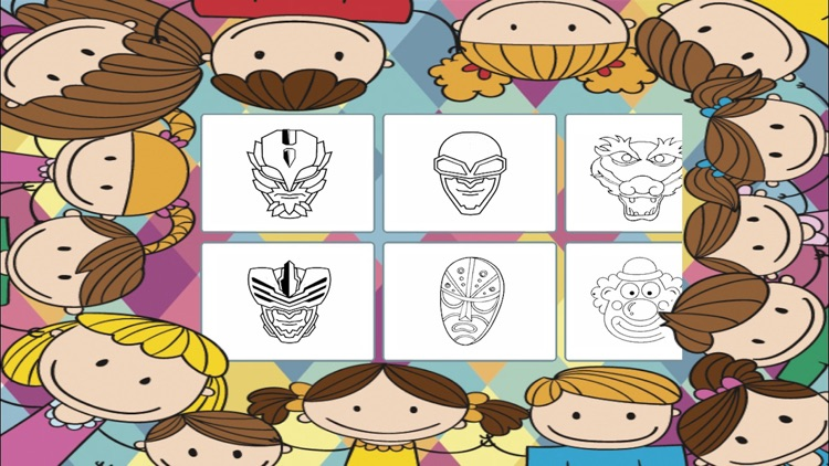 Carnival masks to paint - coloring book to draw screenshot-4