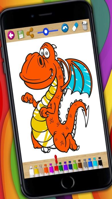 Dragons coloring book & paint fantastic animals screenshot one