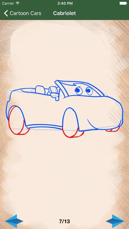 Artist Green - How to draw Cartoon Cars screenshot-4