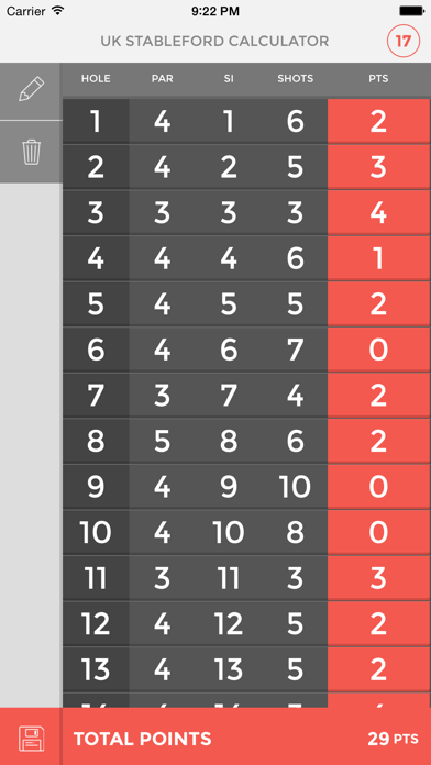 UK Stableford Calculator screenshot two