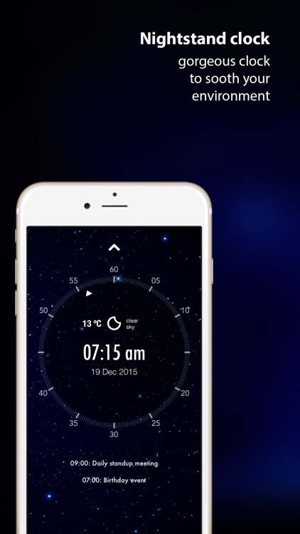 Intelligently Wake Up : alarm clock with news, weather & calendar updates