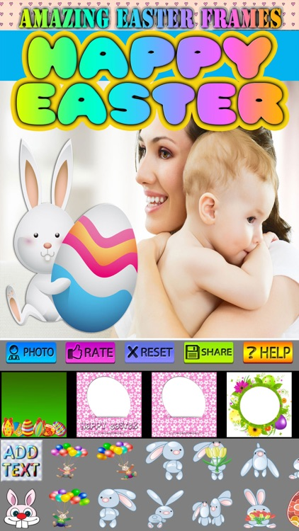 Happy Easter Frames and Stickers