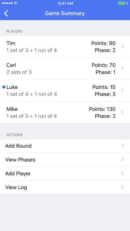 Phase 10 Score Keeper Pro screenshot-2
