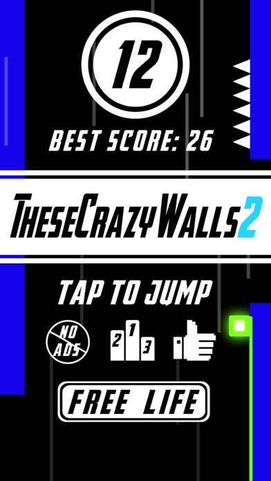 These Crazy Walls 2 -- One Finger Fast Pace Mini Game,More Color,More Fun! screenshot one