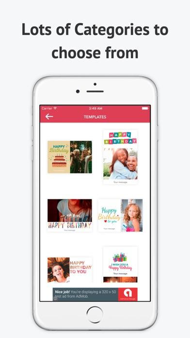 eCard Maker-Celebrate and Send Wishes Free screenshot four