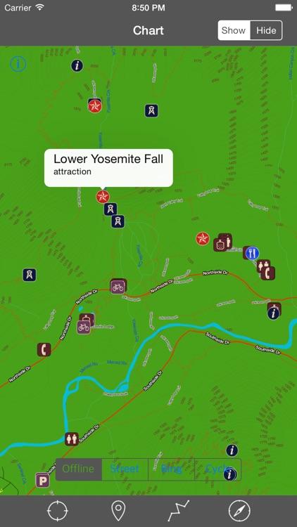 Yosemite National Park – GPS Offline Map Navigator