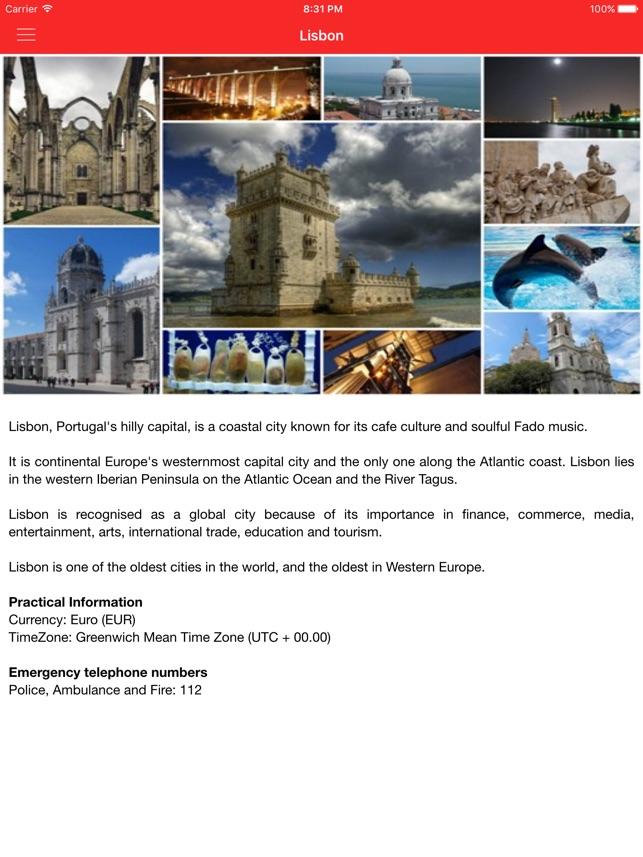 Lisbon City Guide on the App