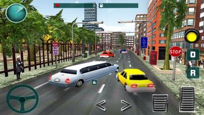 高級リムジンタクシーの都市車の駆動3Dのおすすめ画像3