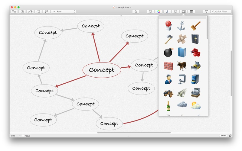 iThoughtsX (mindmap) Screenshot