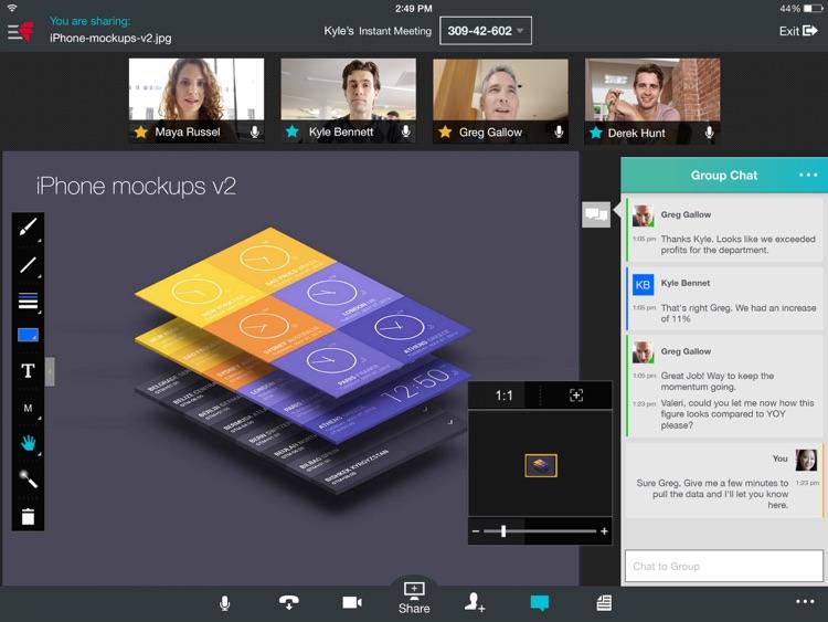 Fuze Meetings for iPad screenshot-4