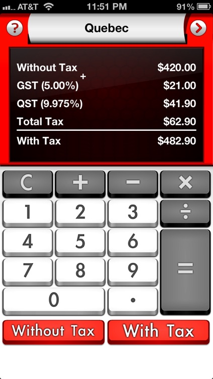 Canada Sales Tax Calculator ∙ Tax Me Pro ∙ Canadian HST, PST, GST, QST ∙ Best way to checkout