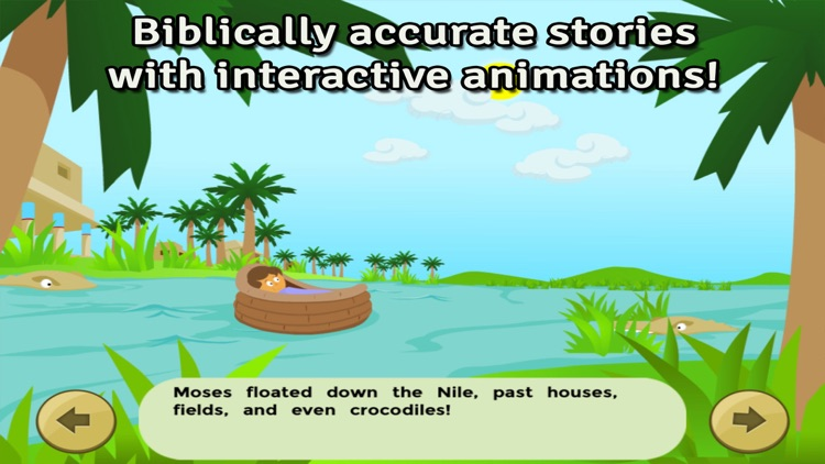 Moses and the Burning Bush: Bible Heroes -  Teach Your Kids with Stories, Songs, Puzzles and Coloring Games! screenshot-1