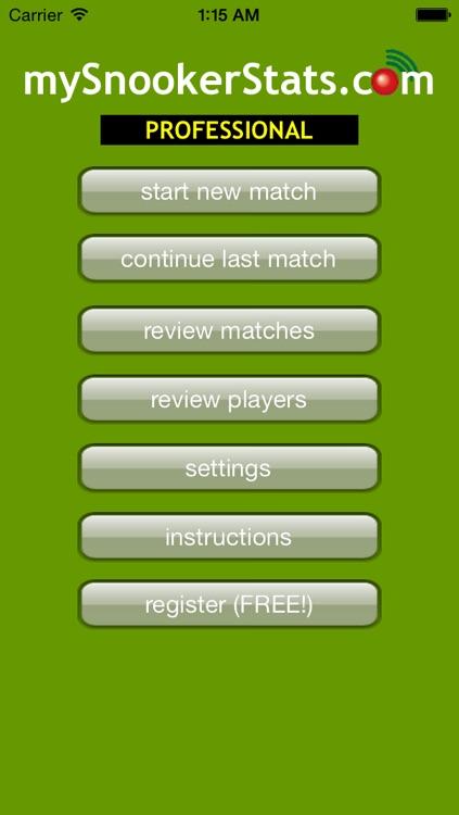 MySnookerStats - Snooker Scoring and Statistics