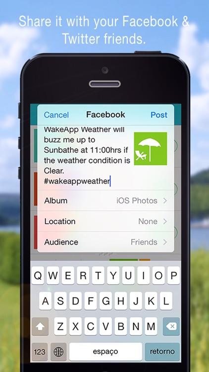 WakeApp Weather - Alarm clock screenshot-3