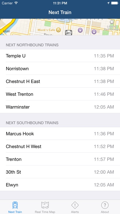 Real Time SEPTA: Regional Rail screenshot-4