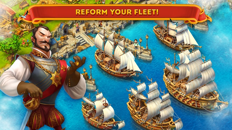 Maritime Kingdom - Trade goods, fight pirates, build an empire