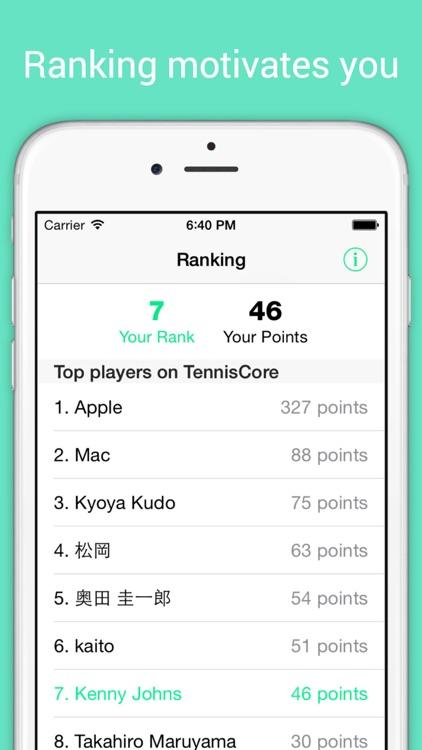 TennisCore - track tennis scores & review stats screenshot-4