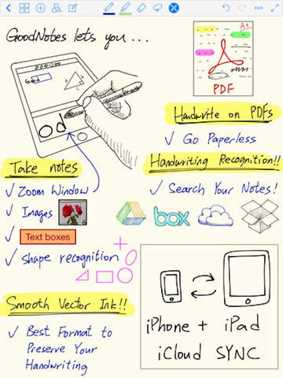 Notes Lite - Take Notes, Audio Recording, Annotate PDF, Handwriting & Word Processor screenshot-4