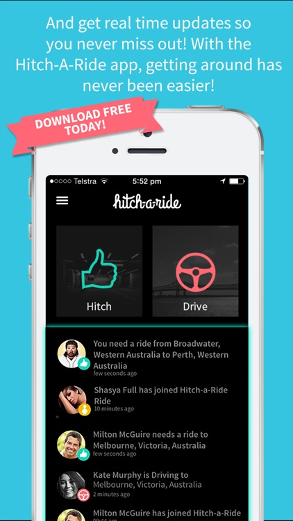 Hitch-A-Ride - Rideshare with Friends! screenshot-4