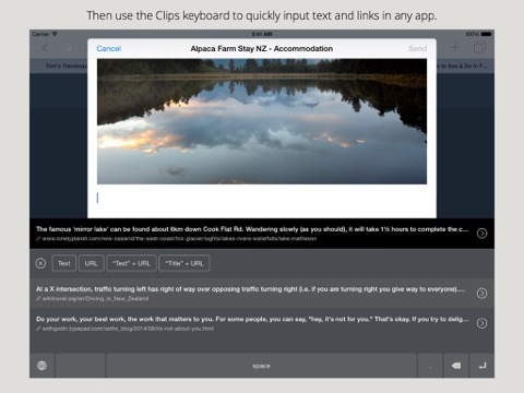 Clips - Copy and paste anywhere with widget and keyboard Screenshot