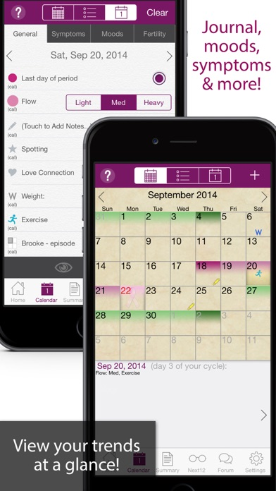 iPeriod Period Tracker Ultimate / Menstrual Calendar screenshot two