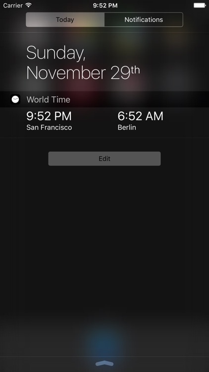 World Time Widget