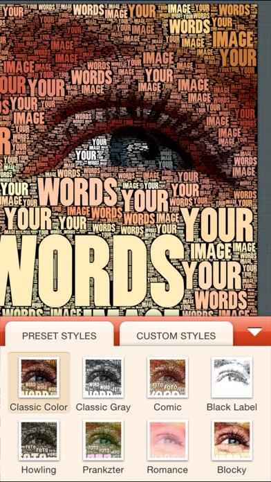 Wordfoto review screenshots