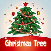 christmas tree designer sticker photo editor to make decorate yr xmas trees