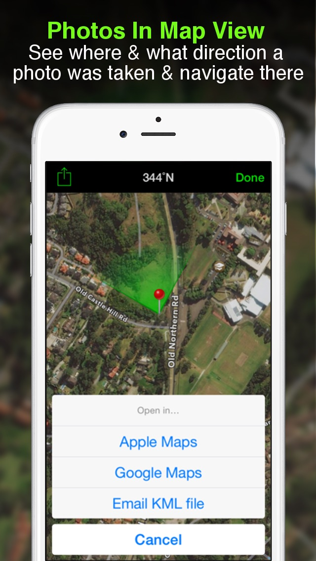 Solocator - GPS Field Camera to stamp photos with location, direction, altitude, date, time + optional editable notes app image