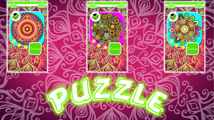 Mandalas Puzzles Slide screenshot-4