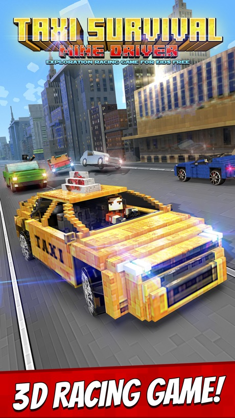 Taxi Survival . Mine Driver Exploration Racing Game For Kids Free