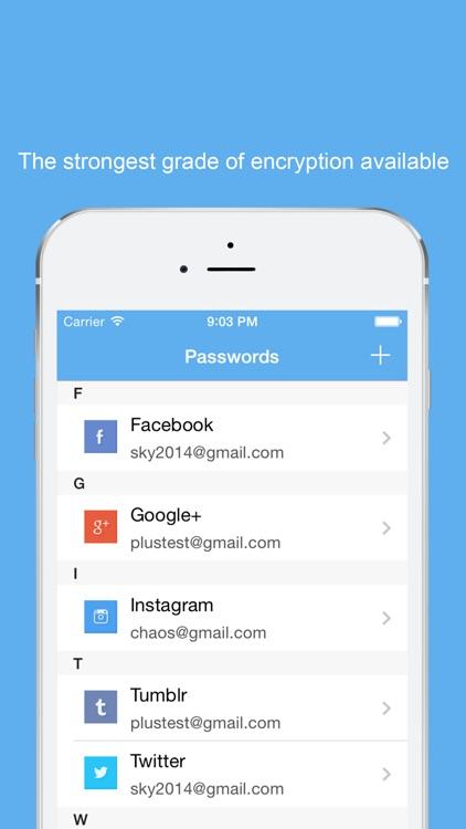 Password Manager-Encrypt data