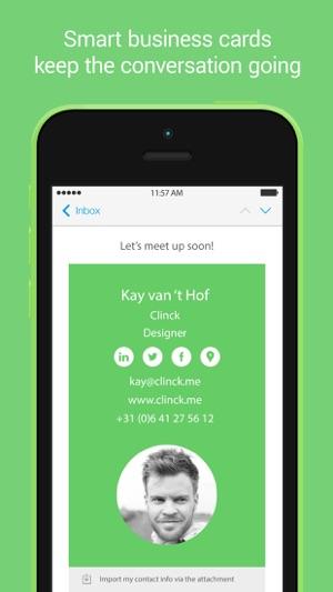 Clinck digital business cards on the app store iphone screenshots colourmoves