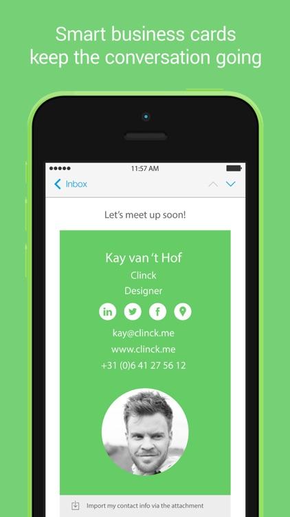 Clinck digital business cards by seffie treistman clinck digital business cards colourmoves