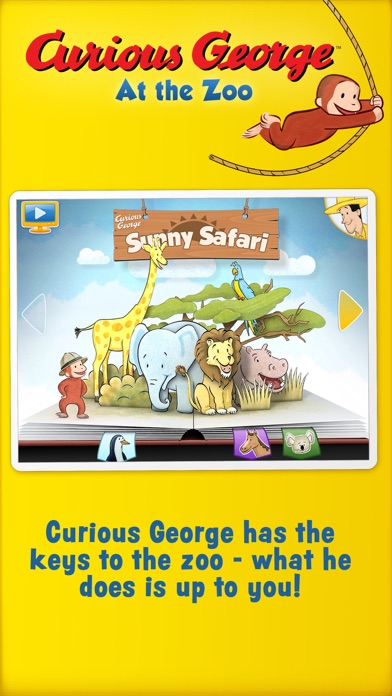 Curious George: Zoo Animalsのおすすめ画像1