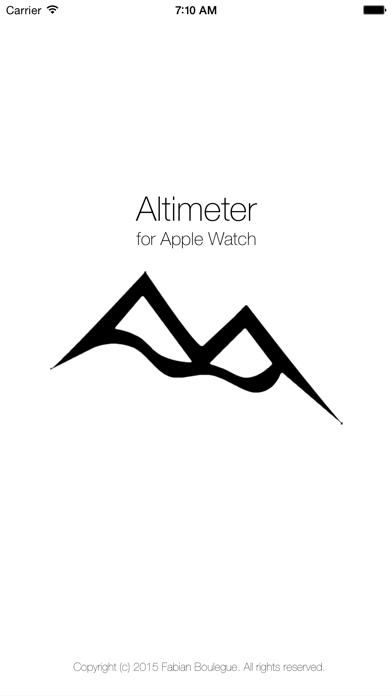 Altimeter for Apple Watch screenshot one