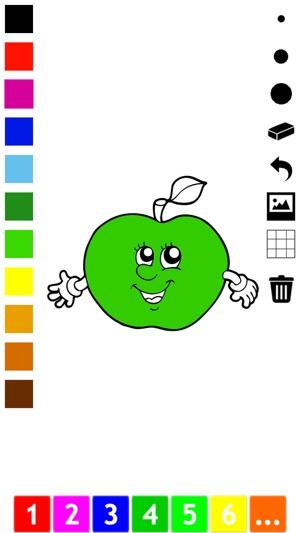 Boyama Kitabı Elma Muz üzüm Limon Armut çilek Gibi Birçok Resim