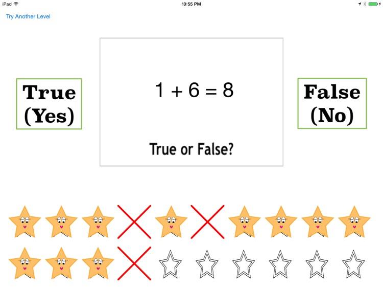 True or False Math Equations Free screenshot-3