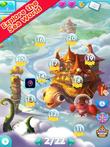 Marine Adventure -- Collect and Match 3 Fish Puzzle Game for TANGO ipad images