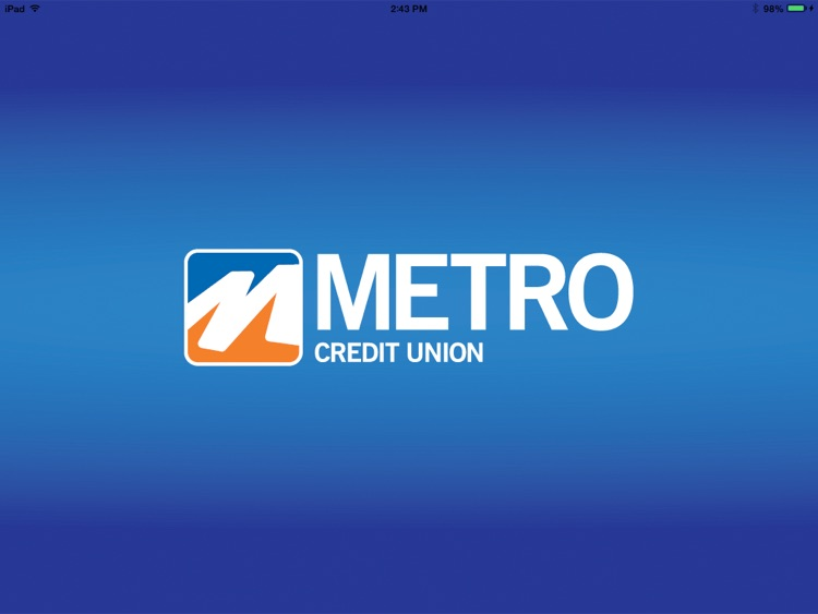 Metro Credit Union for iPad screenshot-0