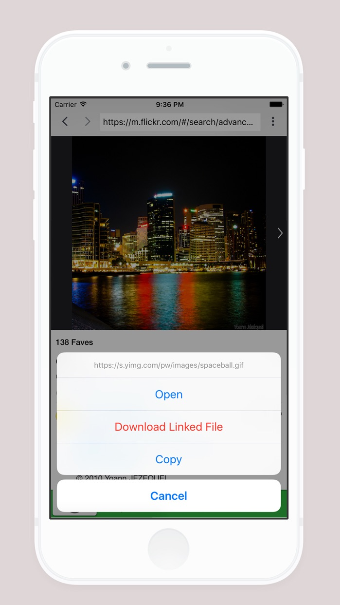D/L Plus Free - Get and Save Files From Web Browser & File Manager Screenshot